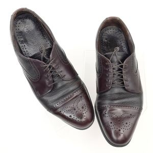 Dexter Mens Wingtip Oxford Shoes 9 Two Tone Brown